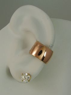 POST Conch Pierced Cartilage Earring 16G Post 14K Gold Filled Ear Cuff 14k Rose Pink Gold Filled Wide Domed E3RGFSMDP16g on Etsy, $18.03 AUD