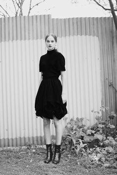 Gemma K in vintage Comme des Garçons photographed by Nicole Maria Winkler