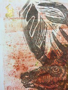 Gabado en acrilico negro con fondo sepia, impresion sin prensa. Fabrique un sistema de impresion x gelatina. Papel Fabriano, Painting, Printing Press, Printmaking, Impressionism, Black, Art, Painting Art, Paintings