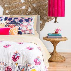 1 Bed 4 Ways_Bright fun Pink_Boho_Emily Henderson_Anthropolgie