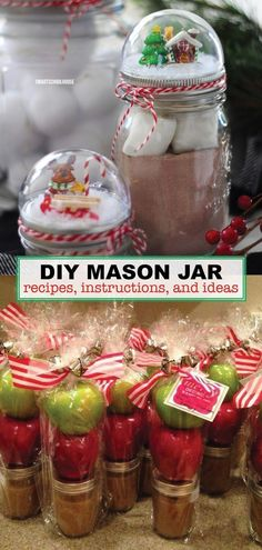There are so many smart uses for handy Mason jars. Here are 13 of uses for mason jars t Uses For Mason Jars, Mason Jar Meals, Meals In A Jar, Mason Jar Crafts, Mason Jar Diy, Christmas Mason Jars, Christmas Centerpieces, Diy Christmas Gifts, Christmas Ideas