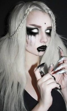 Scary Halloween makeup.( 10 photo)