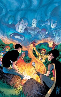 Young Justice by Mike Norton  Alex Sinclair. Young j go camping!