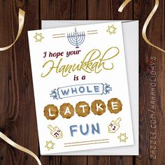 Celebrate Hanukkah with this collection of cards, party invitations, fun sweaters, and
