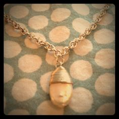 Lovely silver pearl drop necklace :) Brand new, never worn! By the jewelry company blessings. Not real silver, but pearl is authentic. Silver tone chain. blessings Jewelry Necklaces