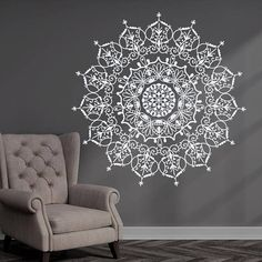 Bohemian Indian Pattern Mandala Wall Decals Floral Vinyl Stickers Yoga Art Ornament Design Interior Mural Removable Bedroom Home Decor Dear Buyers, Welcome to our shop Decal House! ★ SIZE AND COLOR ★ Approximate Item Sizes: 22 Tall x 22 Wide 38 Tall x 38 Wide 44 Tall x 44 Wide If this