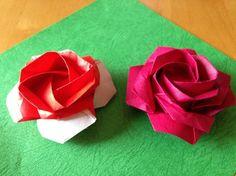 ***佐藤ローズ四角の達人折り簡易版 Sato naomiki rose Tatsujinori Easy form