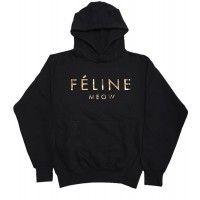 Feline Hoodie - Winter Lennon $60.00 MEOW!