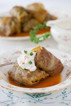 "Russian Monday:""Golubtsy"" Stuffed Cabbage Rolls Recipe: http://www.melangery.com/2013/09/russian-mondaygolubtsy-stuffed-cabbage.html by Yelena Strokin, via Flickr"