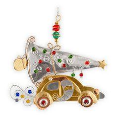 Santa's Bug Metal Fair Trade Ornament