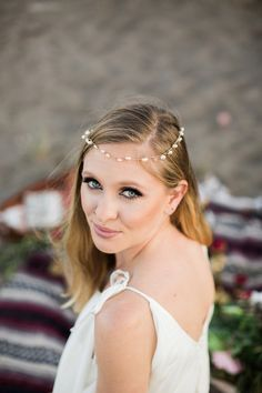 Rustic Boho Beach Styled Wedding Shoot on @intimatewedding Photography by @jasonwasinger #bride #beachbride #bridemakeup