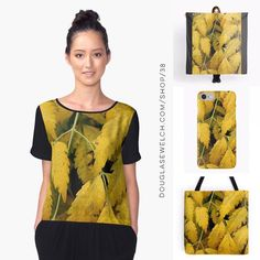 Dream of the Fall with these colorful Wisteria Leaves Tops Totes Scarves Smartphone Cases  and Much More!  While the spring blooms of wisteria look wonderful in Spring these fall leaves are just as striking at the end of the season.  Available exclusively from http://ift.tt/2i1uX76 http://ift.tt/2o4JYd8 (Direct Link)  Chiffon Top Features  Front panel is edge-to-edge custom printed just for you  Sublimation transfer print technique embeds dye into the fabric allowing it to stay soft and…