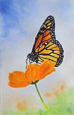 Blueberries, Art and Life: Butterfly