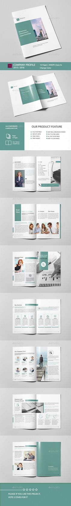 Creative Company Profile on Behance u2026 Pinteresu2026 - it company profile template