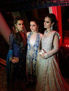 Elan bridal couture - Pakistani fashion - Wow love the white dress on the right Pakistani Wedding Outfits, Bridal Outfits, Pakistani Dresses, Indian Dresses, Indian Outfits, Bridal Dresses, Indian Clothes, Pakistani Couture, Pakistani Bridal