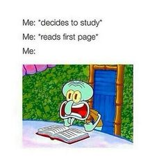 Studying, Squidward Style