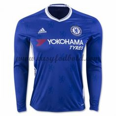 Chelsea will bring a new look to the field in home blue jersey has a white v-neck collar. The front panel has the Chelsea lion printed on the front an. Chelsea Fc, Chelsea 2016, Chelsea Soccer, Chelsea Blue, British Premier League, Premier League Soccer, Liga Premier, Moda Masculina, Manish