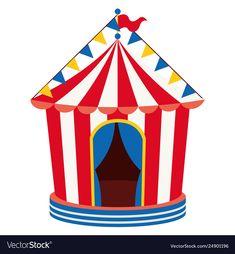 Circus vector image on VectorStock Circus Circus, Carnival Birthday, Single Image, Adobe Illustrator, Vector Free, Birthdays, Party Ideas, Pdf, Graphic Design