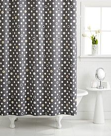 Whim By Martha Stewart Collection Pop Dot Shower Curtain