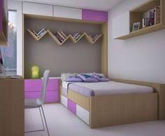 Habitación niña.   Diseño by Arq Alex Pardo. Bunk Beds, Toddler Bed, Furniture, Home Decor, Girl Rooms, Space, Interiors, Style, Child Bed