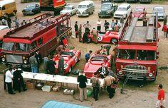 Fiat Bartoletti 642 RN2 & 682 RN2 Scuderia Ferrari  transporters Le Mans 1963