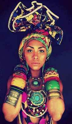 Her head wrap was inspired from African tribe and it is different from other cultures