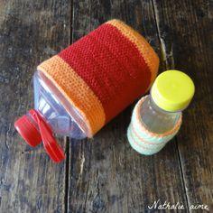 SC # 211 bouteilles en  crochet