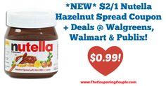 AWESOME DEALS!!!! *NEW* $2/1 Nutella Hazelnut Spread Coupon + Deals @ Walgreens, Walmart + Publix!  Click the link below to get all of the details ► http://www.thecouponingcouple.com/new-21-nutella-hazelnut-spread-coupon-deals-walgreens-walmart-publix/ #Coupons #Couponing #CouponCommunity  Visit us at http://www.thecouponingcouple.com for more great posts!