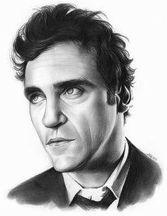 Joaquin Pheonix - A graphite sketch by artist Greg Joens