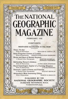 National Geographic Feb 1932