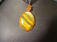 Bumblebee Jasper Pendant by MallardRocksandGems on Etsy, $30.00