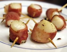 scallops and turkey bacon » Dukan Diet Recipes she is red