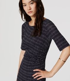 Thumbnail Image of Color Swatch 4886 Image of Lattice Side Shirred Dress