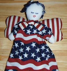Primitive Cloth Doll Patriotic Angles over by AStitchInTimewithSue, $16.50