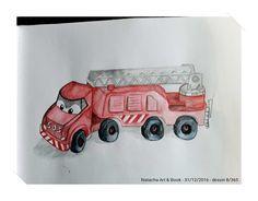 Camion de pompiers, jouet pour enfant, jeu.