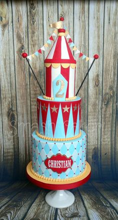 Cheery Vintage Carnival Cake - Cake by Lindsey Krist - CakesDecor