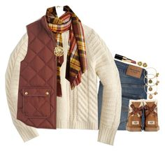 """""""Outfit #3 Watching the Parade!"""" by bloom17 ❤ liked on Polyvore featuring Abercrombie & Fitch, J.Crew, Bobbi Brown Cosmetics, UGG Australia, Alex and Ani and 5setsofthanksgiving"""