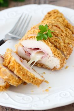 My siblings and I probably all made chicken cordon bleu in Home Ec class in high school. It was so fancy and made us feel like accomplished chefs. Ham and cheese is rolled up in a chicken breast, which is butterflied and flattened to an even thickness. It is then breaded and cooked to make an elegant chicken …