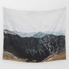 interstellar - landscape photography Wall Tapestry. #photography #landscape #nature #vintage #travel #mountain #sky #distance #blue #orange #wilderness #outdoors #germany #alps #calm #wanderlust #explore #folk #fernweh #hiking #clouds