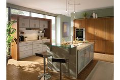 Simple glass counter for two | Room Gallery - Medallion Cabinetry