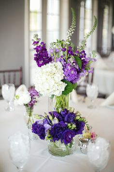 38 Trendy wedding colors purple and gray receptions Mod Wedding, Purple Wedding, Trendy Wedding, Wedding Table, Wedding Colors, Wedding Flowers, Wedding Reception, Succulent Centerpieces, Floral Centerpieces