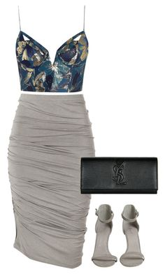 """""""Untitled #87"""" by marinaisaac ❤ liked on Polyvore featuring Zimmermann, Donna Karan and Yves Saint Laurent"""