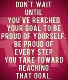 Every step forward is PROGRESS!