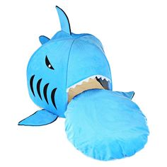 Cat Bed Soft Dog Bed Bule Grey Cartoon Shark Pet Bed For Pets Washable Dog House Pet Sleeping Bed With Removable Cushion Maltipoo, Yorkie, Chihuahua, Pet Beds, Dog Bed, Guinea Pig Bedding, Cat Basket, Pet Odors, Yorkies
