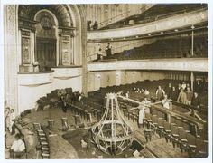 2007/191/1-1/70  Photographic print, black & white, auditorium of St James Theatre undergoing restoration, Sydney, New South Wales, Australi...