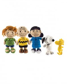 "Good grief, these are cute! The figures come from ""Peanuts by Schulz Crochet,"" which is an all-inclusive kit that includes a book of patterns with step-by-step instructions to create 12 characters from the classic comic strip, plus a bonus paper doghouse for Snoopy."