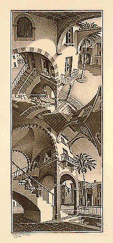 M.C. Escher – Boven en onder