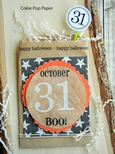 Halloween Boo Treat Bags - Cokie Pop Paper blog. Check blog post for full details. #halloweencrafts #halloween