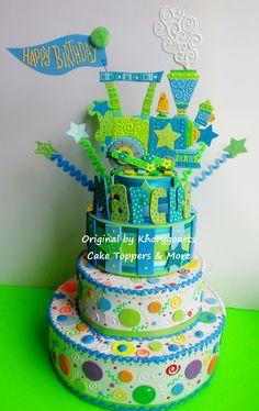 TRAIN cake topper or birthday centerpiece