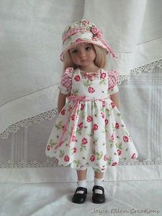 13-Effner-Little-Darling-BJD-fashion-Think-Pink-5pc-OOAK-handmade-set-by-JEC. Ends 9/7/14. SOLD for $104.07